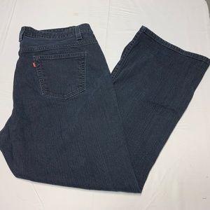 Levis Size 22 Dark Wash Boot Cut Jeans